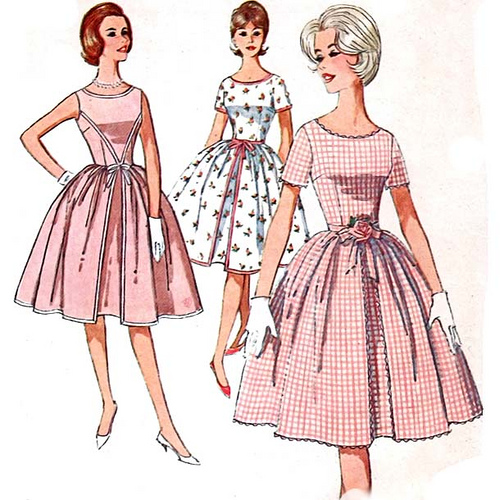 Vintage Clothing: 1940s -1960s style dress and clothing