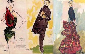 Vionnet and Schiaparelli designs in the 1930s