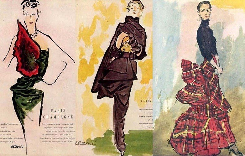 Vionnet and Schiaparelli designs in the 1930s