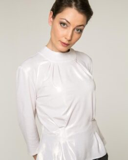 Retro Fashion 1940s White BLOUSE CIARA SHIMMER Vintage Outfit