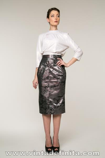 SKIRT INNA WITH SNAKESKIN EFFECT